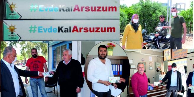 AK Parti Arsuz'da Maske Dağıttı.