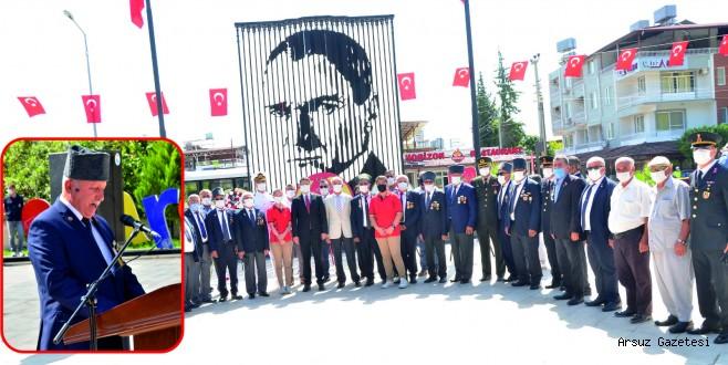 Arsuz'da 19 Eylül Gaziler Günü Kutlandı