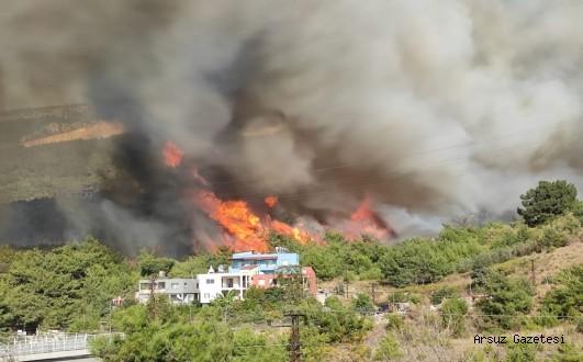 Arsuz'da Yangınlarında Zarar Görenlere Destek