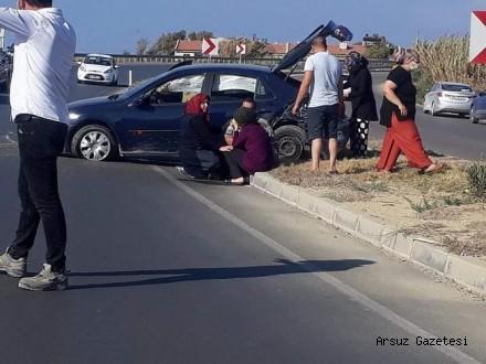 Arsuz-İskenderun karayolunda kaza…