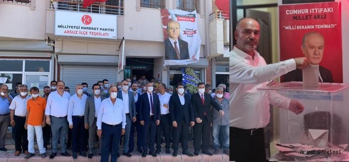 Arsuz MHP İlçe Başkanı KOÇLOĞ Güven Tazeledi.